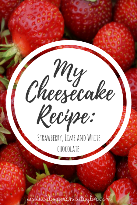 Strawberry, Lime and white chocolate Cheesecake Recipe